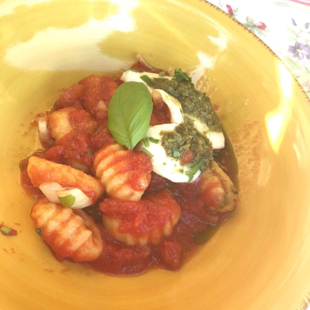 Gnocchis auf dem Teller