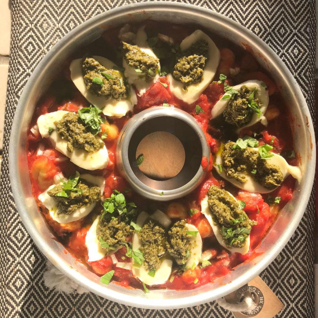 Fertige Gnocchis mit Mozzarella