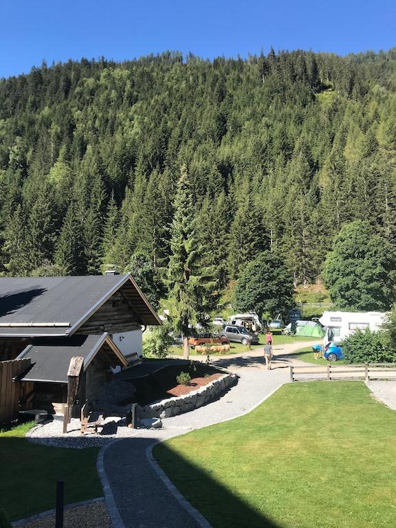 Campingplatz Blick vom Hotel